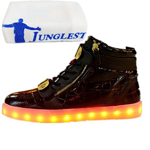 c1283c2438799b Wechseln Handtuch Aufladen 7 Schwarz present junglest® Leuchtend Schuhe  Mode licht kleines Sneaker Farbe Outdoorschuhe ...