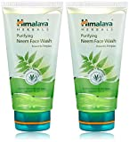Himalaya Herbals Purifying Neem Face Wash, 2x150ml (Saver pack)