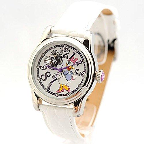disney-damas-reloj-de-pulsera-automatico-reloj-con-daisy-duck-brillantes-piel-di-de-094491-de-d34-de