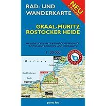 Rad- und Wanderkarte Graal-Müritz, Rostocker Heide: Mit Warnemünde, Markgrafenheide, Gelbensande, Rövershagen, Klockenhagen, Dierhagen. Maßstab 1:30.000. Wasser- und reißfest.
