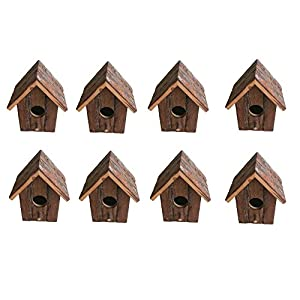 Heritage 20832 Rustic Wooden Nesting Nest Box Bird House Small Birds Blue Tit Robin Sparrow