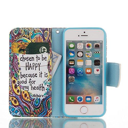 Handyhülle für Apple iPhone 5/5s/SE, Ekakashop Ledertasche ...