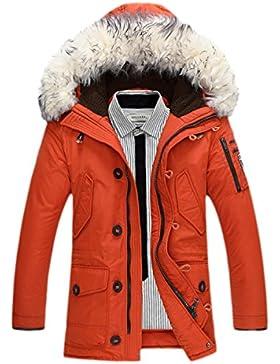 Sublevel Damen Mantel Wintermantel Winterparka Lana Collar De Piel Grande Abajo Chaqueta Gruesa Chaqueta Caliente...