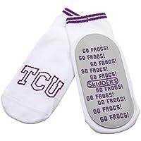 NCAA TCU Horned Frogs Infant Skid-Proof Gripper Socks - White/Gray (6 Months)