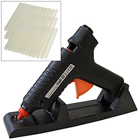 15-80W Cordless Electric Hot Melt Glue Gun plus 52 Adhesive Glue Sticks