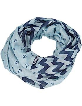 Bufanda de TOPModel lazo, azul claro con el patrón de anclaje