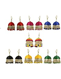 Stunning Adorable Trendy Colored Thread In New Tribal Jhumki Dangles / Earrings For Women And Girls BY The Indian...