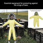 Zerodis Beekeeping Suit with Veil Protective Bee Suit for Kids,Professional Beekeeping Jumpsuit Bee Visitor Cotton Long Sleeve Children Protection Bee Keeping Supplies(M) 14