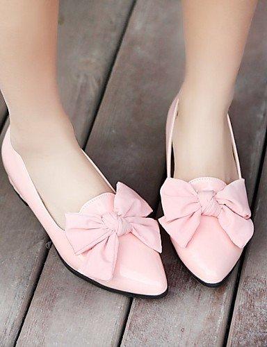 ZQ gyht Damenschuhe - High Heels - B¨¹ro / L?ssig - Lackleder - Niedriger Absatz - Komfort / Spitzschuh - Schwarz / Rosa / Mandelfarben pink-us5.5 / eu36 / uk3.5 / cn35
