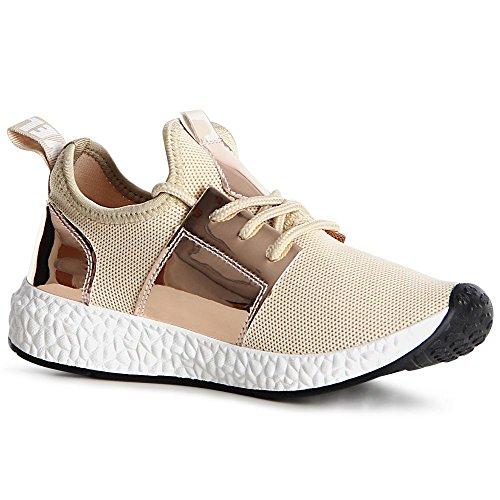 topschuhe24 Sneaker Donna, Giallo (Giallo), 37