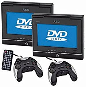aeg dvd 4533 lecteur dvd portable double cran tft 7 avec manette kit de voiture. Black Bedroom Furniture Sets. Home Design Ideas