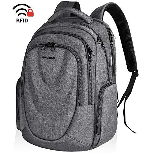KROSER Zaino per Laptop da Viaggio 17,3 Pollici Pannello Frontale Stampato Daypack per...