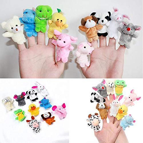 Bluelans 10pcs Animal Rabbit Dog Pig Finger Puppets Cloth Baby Story Telling Playing Toy for Kids Boys Girls Xmas Gifts Xmas Stocking Fillers Party Bag Gifts