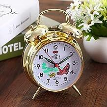 Luxuryclock Despertador Súper Ruidoso Reloj De Herradura Mecánico Antiguo Retro-Nostalgia Completamente Metálico Mandril De
