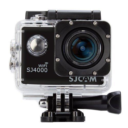 SJCAM SJ4000 WiFi Action Camera Camcorder Video, Full HD 1080P 12MP 170 ° Obiettivo Grandangolare H.264 Impermeabile con gli Accessori Liberi, 4 pin Cavo AV per gli Sport Esterni di Guida Subacquea Sci DVR - Guida Esterno
