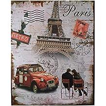 Moderne Blechschilder (ab 1960) Eiffelturm Paris Nostalgik Metallschild 20x30 cm Retro Reklame Blechschild 520 Reklame & Werbung für Sammler