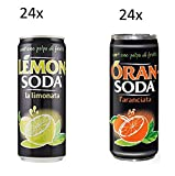 24x Lemonsoda 330 ml Campari Group Lemon soda Zitrone italienisch Limonata + 24 Dose Oransoda 330 ml Campari Orange Orangenlimonade
