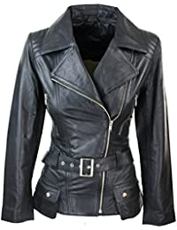 Trench Ladies Tan Black Teal Green Mid Length Designer Real Leather Jacket