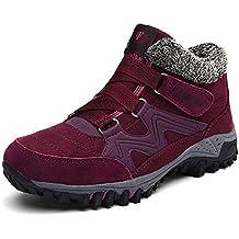 Zapatillas Deportivas de Mujer Hombre Invierno Senderismo Zapatos de Trekking Botines Nieve Pelaje Outdoor Trekking Botas