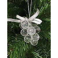Grappolo uva bianco sfera natalizia palle per albero di natale moderno decori