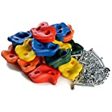 Klettersteine Set Klettergriffe für Holzwandmontage Klettertraining Climbing Holds Rock Wall Indoor / Outdoor Spielplatz - Set für Kinder Multi Color Assorted 20 Stück Klettergriffe für Spielturm