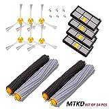 MTKD Kit de recharges pour iRobot Roomba série 800 et série 900 - Kit de 14 pièces accessoires (Brosses Latérale, filtres, brosse de Cerda) pour aspirateur robot.