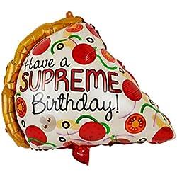 Toyvian 55cm Pizza Scheibe Folien Luftballon - Geburtstags Feier Dekorationen für Kinder