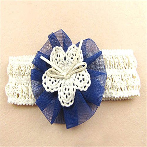 d Stirnband Trägerlos Kopftuch Fotografie Prop Für Baby Mädchen Blau (Prop Herd)