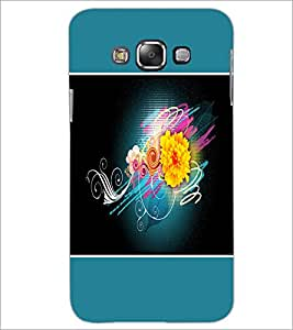 PrintDhaba Flower D-1328 Back Case Cover for SAMSUNG GALAXY A8 (Multi-Coloured)