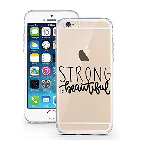 iPhone 6S Hülle von licaso® für das Apple iPhone 6 & 6S aus TPU Silikon Schwarze Punkte Black Dots Fashion Style Muster ultra-dünn schützt Dein iPhone & ist stylisch Schutzhülle Bumper Geschenk (iPhon Strong is beautiful