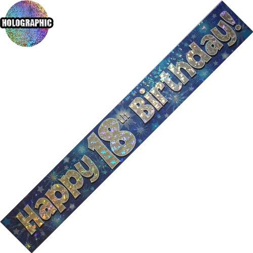 Every-occasion-party-supplies Alter 18 Alles Gute zum Geburtstag banner boy (oak boy) (18 Geburtstag Party Supplies)