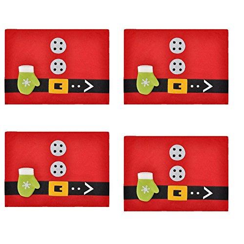Natale plastica antiscivolo tovagliette americane tovaglietta esstischmatte set, 30x 45cm lavabile, gruen, 30x45