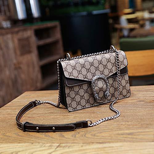 LFGCL Bags womenSmall Square Bag drucktasche urban Casual schulterkettentasche, schwarz