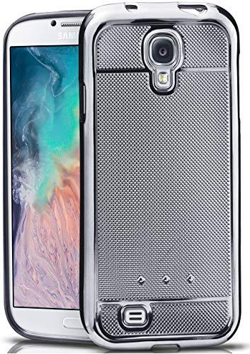 moex Samsung Galaxy S4 | Hülle Glitzer Silikon Metallic Glossy Back-Cover Chrom Silikonhülle Ultra-Slim Schutzhülle Glitter Handy-Hülle für Samsung Galaxy S4 / S IV Case Dünn (Cases Galaxy Bling 4s Phone)