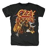 OZZY Osbourne (Black Sabbath) - Bark AT The Moon Hombre Lobo - Oficial Camiseta para Hombre - Negro, Small