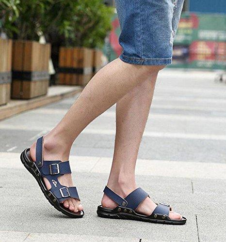 GLTER Uomini Apri I Piedi Sandali 2017 Nuove Pattini Di Spiaggia Dell'Inarcamento Di Estate Scarpe Casuali Delle Pantofole Traspiranti Blue