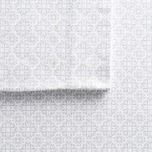 Cuddl Duds Bettlaken-Set aus Flanell Queen Tile Bloom (Flanell Sheet Set Queen)