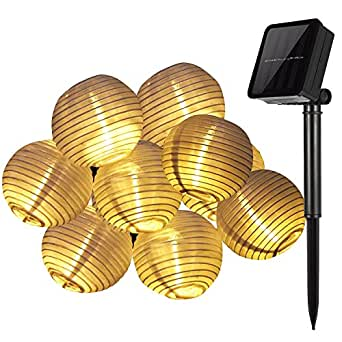 suaver solar lichterkette bunt lampion au en outdoor laternen 30er kugeln f r weihnachten party. Black Bedroom Furniture Sets. Home Design Ideas