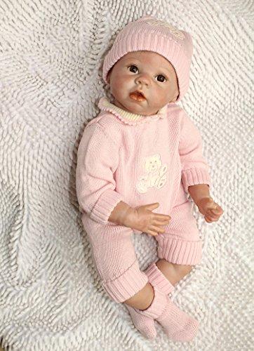 """22"""" Reborn Bebes Bebé Muñecas Vinly 55cm Muñeca Renacida Para Niña Juguetes Reborn Baby Dolls, Adecuado Para Edades Recién Nacido"""