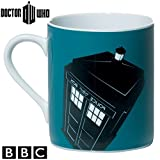 BBC DOCTOR WHO DW Dr Who Official Ceramic Coffee Tea Cup Mugs Boxed Gift Set (Pack of 4) - Including Tardis, Dalek and Cyberman Design
