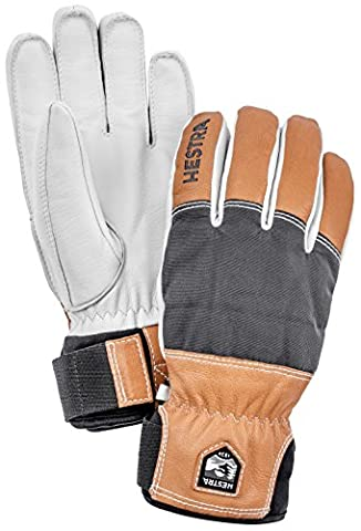 HESTRA Army Leather Abisko 5 Finger Ski/Snowboard Gloves Large