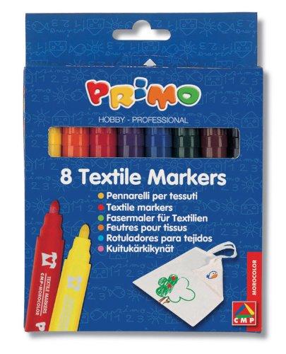 Jumbo-Textilstifte zum Bemalen von T-Shirts und anderen Kleidungsstücken, in bunten Farben, dokumentenecht, 8Stück