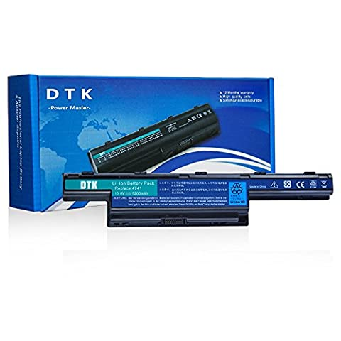 Dtk® New High Performance Laptop Battery for Acer Aspire 4250, 4253, 4551, 4552, 4738, 4741, 4750, 4752,4771, 5251, 5253,5336, 5551, 5552, 5560, 5733, 5741, 5742, 5750,5755,5736,7741, 7551, 7552,7750, 7560, AS5741 Series, Travelmate 4740,4750,5335,5542,5735,5740,5742,5760,7740,7750,AS10D,AS10D31.AS10D41,AS10D51,AS10D61,AS10D71,AS10D73,AS10D75 [10.8V,4400mAh,Li-ion] notebook battery