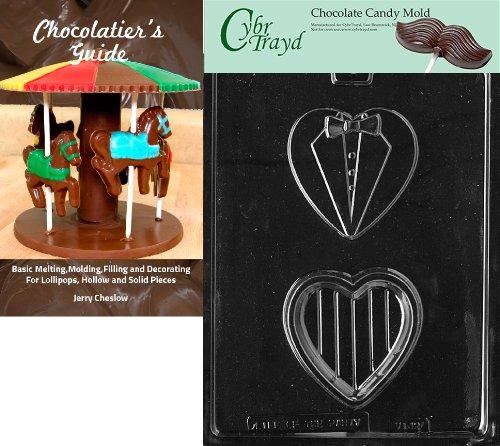 Cybrtrayd SM Tuxedo Box Valentine Chocolate Candy Form mit Chocolatier 's Guide Anweisungen Buch Handbuch - Möbel Tuxedo