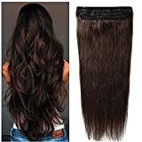 """S-noilite One Piece Clip in Human Hair Extensions Remy Real Natural Hair 16""""-22"""""""