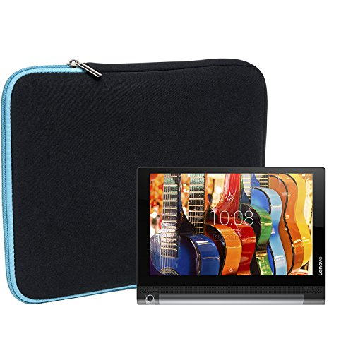 Slabo Tablet Tasche Schutzhülle für Lenovo Yoga Tab 3 (8 Zoll) Hülle Etui Case Phablet aus Neopren – TÜRKIS/SCHWARZ