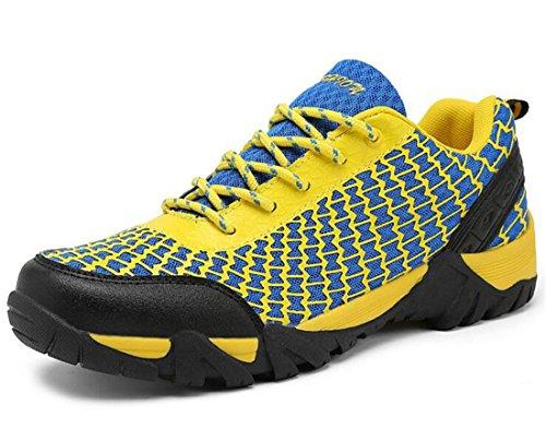 arrampicata all'aperto Scarpe da passeggio correnti di sport di campeggio bike scarpe da trekking uomo (giallo, 8UK / 42EU) - Arrampicata Scarpe