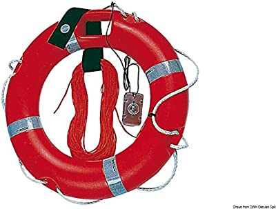 Anulare con boetta e cima 45 x 75 cm English: Ring lifebuoy+torch 45x75cm