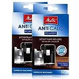 2er Pack Melitta ANTI CALC 2 x 40g für Kaffee-/Espressomaschinen - 1500804 -