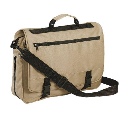 eBuyGB® Messenger Bag per scuola, Università & lavoro - riunione tracolla (nero e blu) Beige